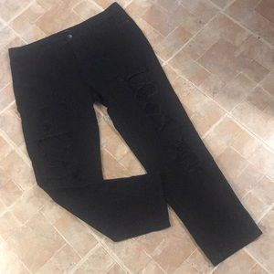 Forever 21 high waisted distressed jeans size 31